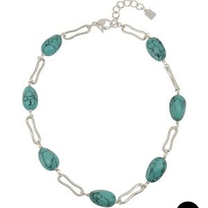 ROBERT LEE MORRIS Turquoise stone sliver necklace